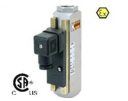 DSS-Celokovový průtokový spínač pro proměnlivá množství typové řady DSS. Plováčkový - celokovový.