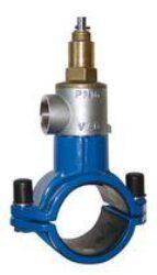 TERRA K1-Navrtávací pas potrubí z PVC a PE typové řady TERRA. PN 16
