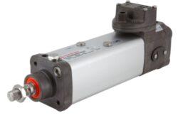 PVA/882063/MIR/M3/590-Pneumatický válec YVAC technologie pr.63mm, zdvih 590mm,  včetně 5/2 monostabil ventilu 24V DC,1W, IP67, 2-8 bar přip.port G1/8, pístní tyč v klidové poloze zasunuta