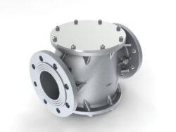 Filtr plynový FG9-6A, DN100-přírubové připojení PN16, Pmax.6 bar, filtrační vložka PPR tkanina 5µm, medium-zemní plyn,vzduch. Filtry typu FG jsou vyráběny v souladu s normami DIN 3386.