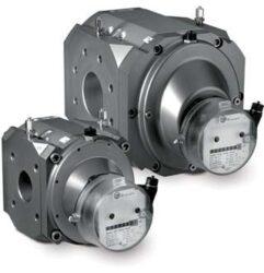 RABO G16-Rotační pístový plynoměr.  Qmin=0,8m3/h,Qmax=25m3/h, DN 32, PN 16bar přírubové provedení, samomazná ložiska