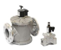 EVRM-NC-bezpečnostní elektromagnetický ventil pro plyn s ručním resetem, bez proudu uzavřen-NC, od DN10 - DN300 Ve spojení s detektorem úniku plynu je vhodný pro uzavření přívodu plynu